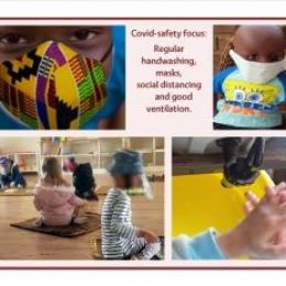 Preschool near you in Pretoria East - focus on Covid safety ssori learning everyday skills