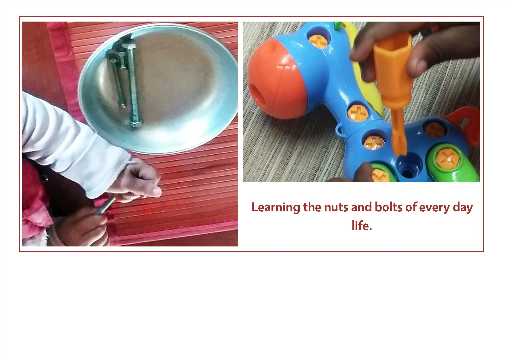 Preschool near you in Pretoria East Montessori learning everyday skills